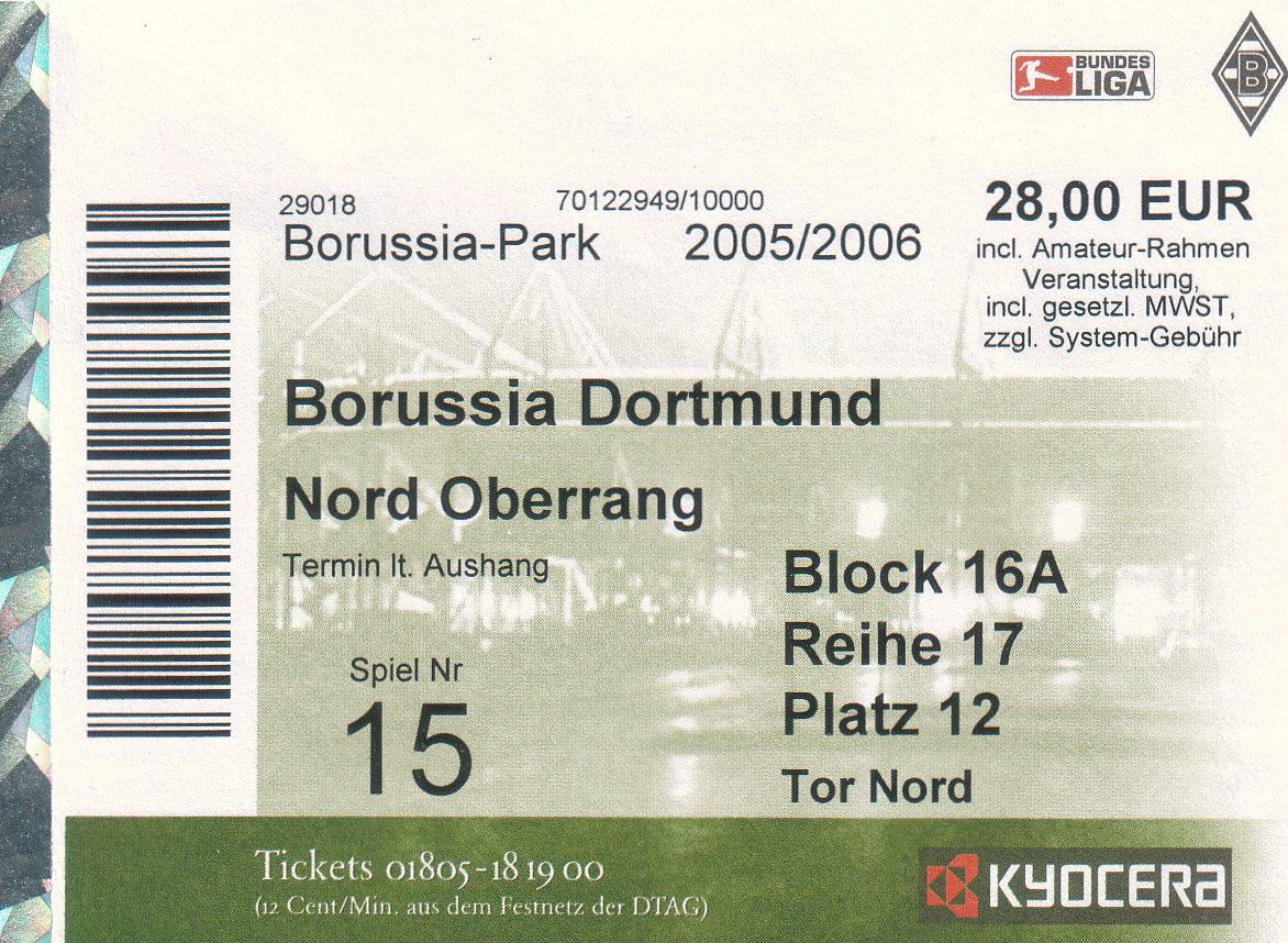Borussia Gladbach Tickets