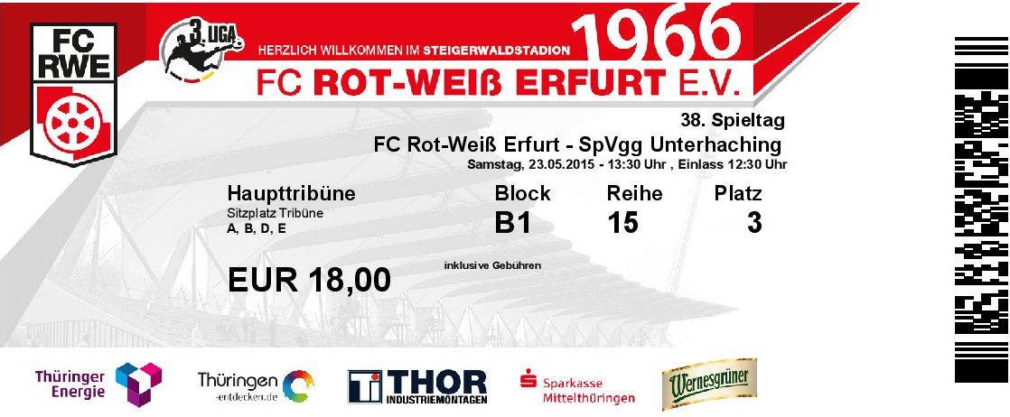 Tickets Rot Weiß Erfurt